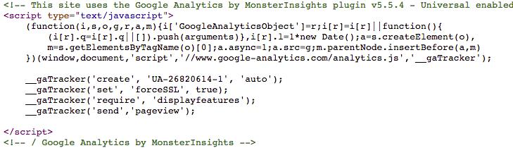 ترکینگ کد گوگل آنالیتکیس