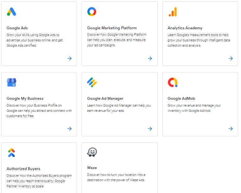 دوره های اسکیل شاپ گوگل