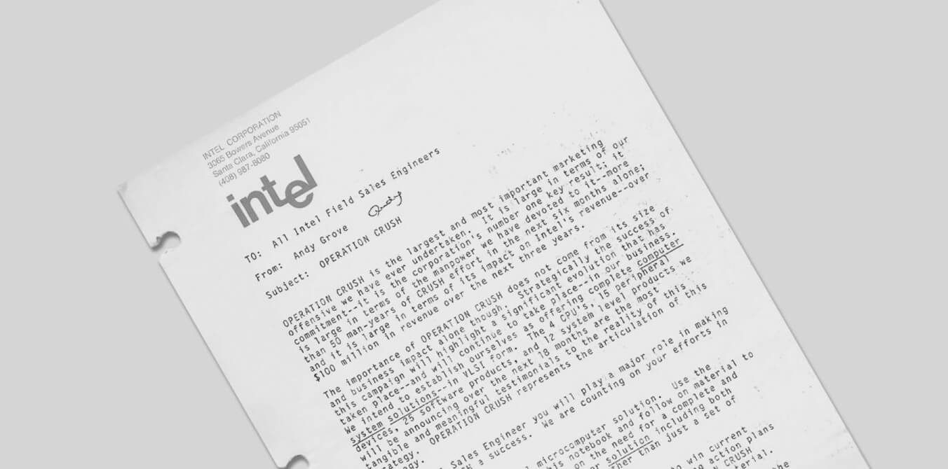 بیانیه اندرو گرو برای شرکت اینتل