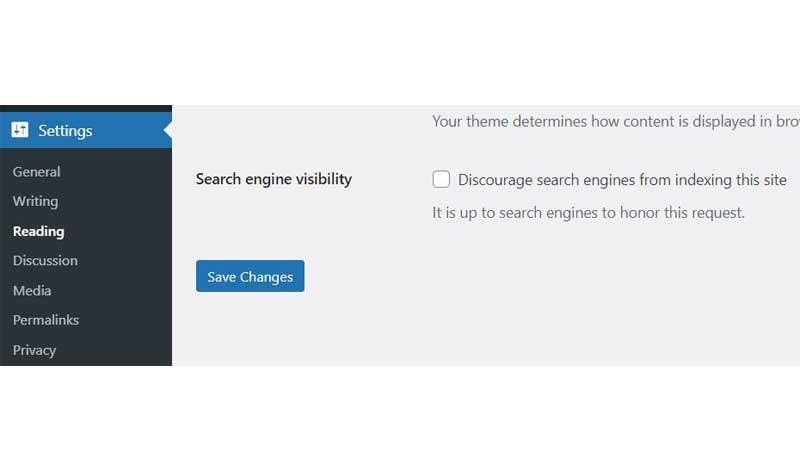 قابلیت دیدن شدن سایت وردپرس توسط موتورهای جستجو