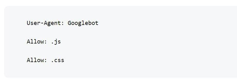 جاوا اسکریپت در فایل robots.txt