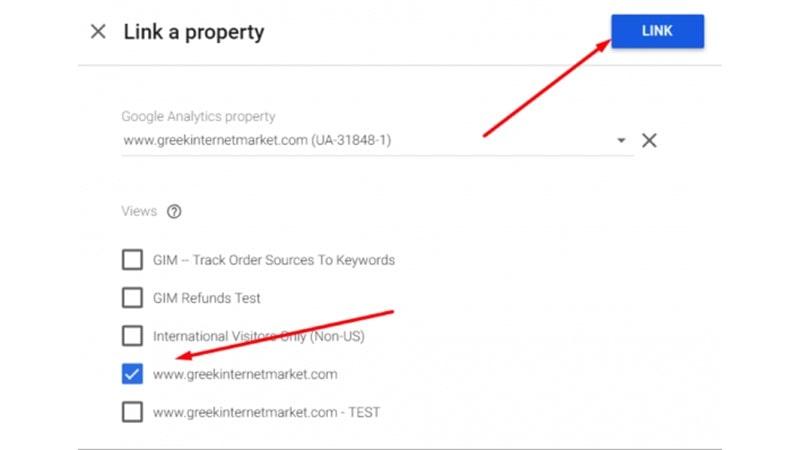میتوانید property گوگل آنالیتیکس و ویو دلخواه را انتخاب نمایید